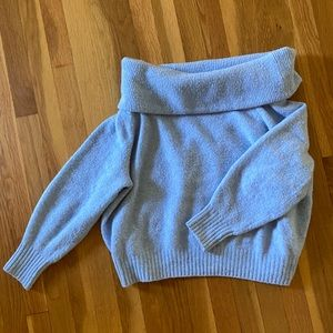 Baby blue off the shoulder sweater H &M